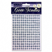 Icon Craft Pkt.210 Self Adhesive Gem Stones 6mm - Pearl Silver